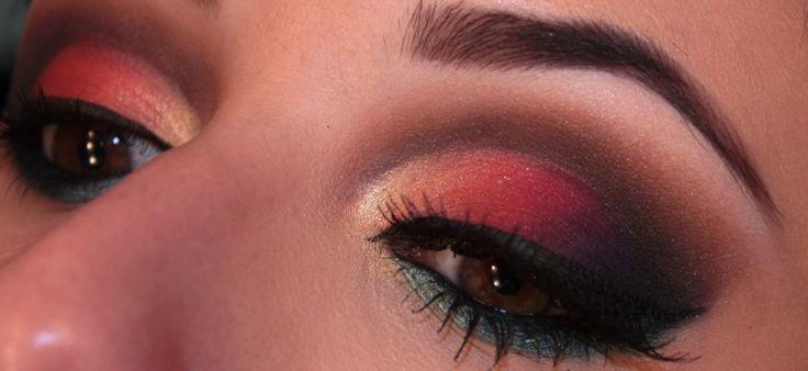 maquiagem-cores-fortes-por-do-sol-laranja-roxo-azul-marrom-preto22