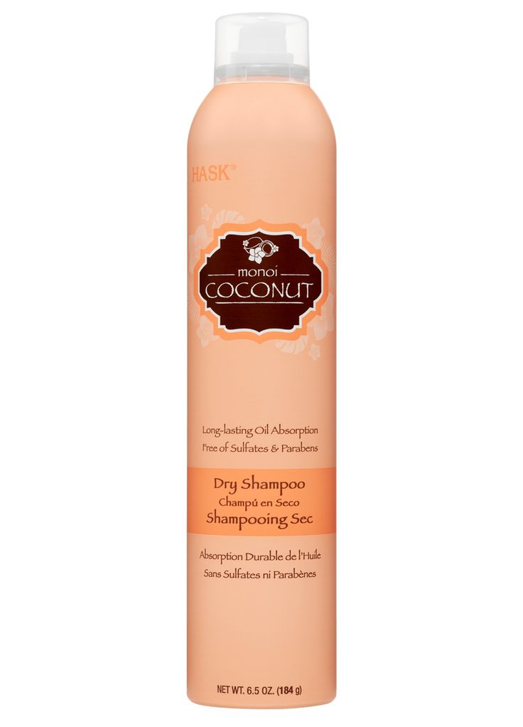 Coconut Dry Shampoo  Infused with a tropical coconut scent  Long-lasting Oil Absorption Free of: sulfates, parabens, phthalates, gluten and artificial colors.