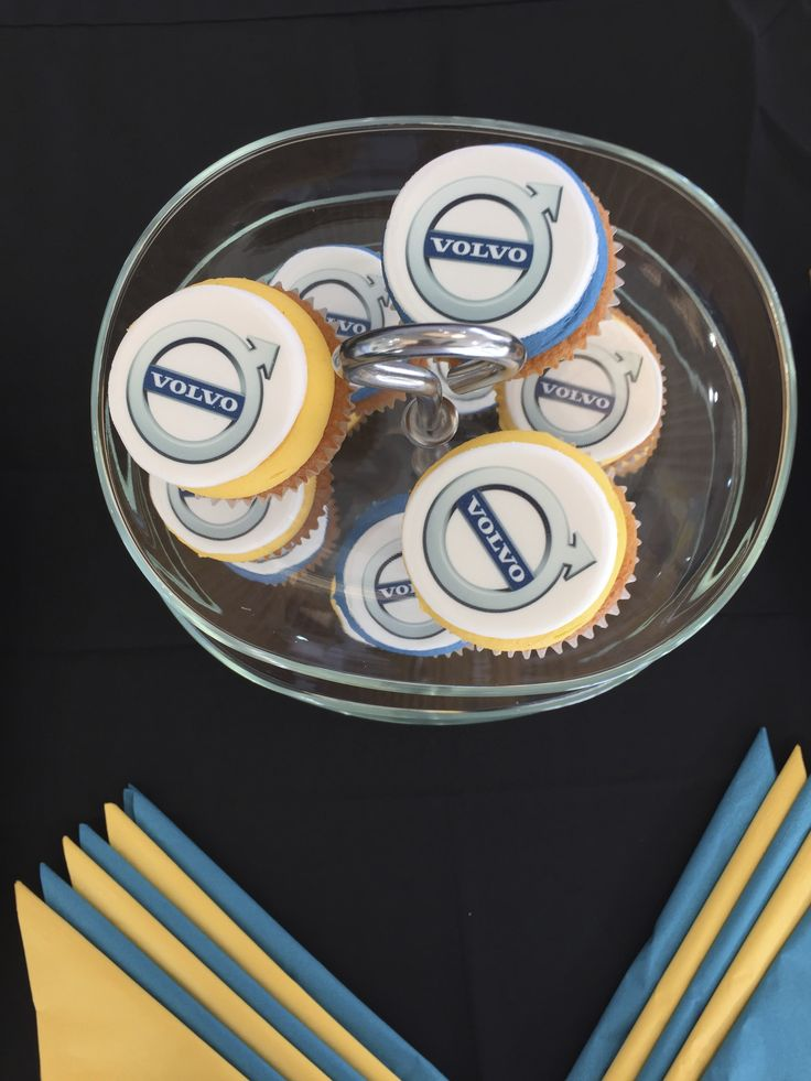 Branded Volvo Cupcakes for a car launch @YOURgbEVENTS were asked to help with