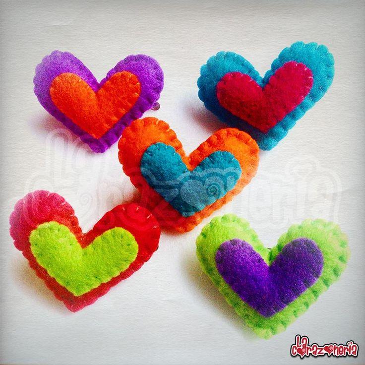 Broches de Corazón Doble