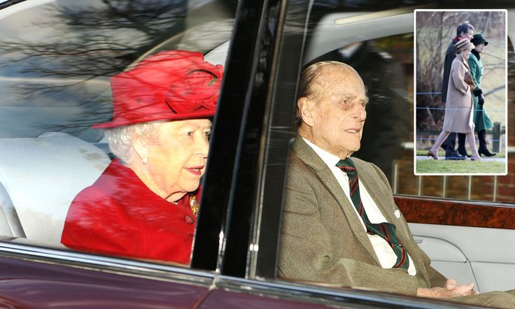 January 29, 2017: The Queen, 90, was joined by Prince Philip and Princess Anne for the service at St Mary Magdalene Church on the Sandringham estate, Norfolk, this morning.