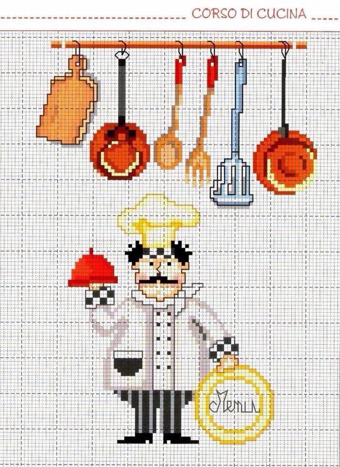 Punto de cruz cocina bordado pinterest punto de cruz - Punto de cruz cocina ...