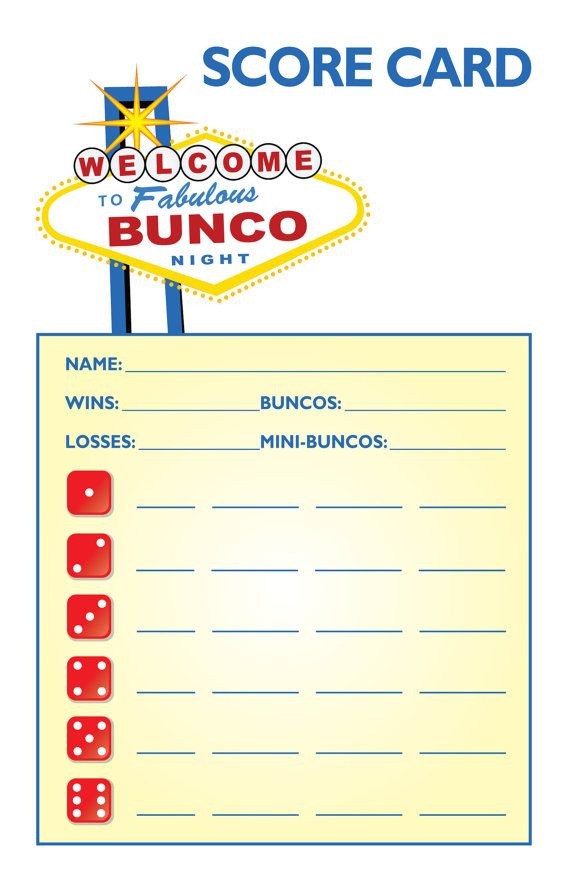 17 best images about bunco babes on pinterest bunco for Free bunco scorecard template