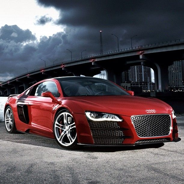 Vibrant Red Rapid #Audi R8 Just Overall Awesome In Every