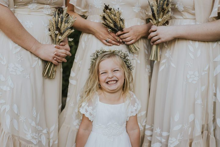 Love the corn used for bouquets. Great idea for an autumn wedding. Taken from an Earthy and Rustic Autumn Wedding by French Connection Photography, with dried flowers, tattoos all planned in 4 months.