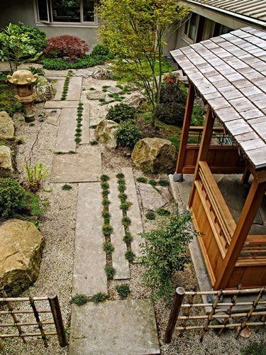 Japanese Courtyard Enterances Walkways Small Garden