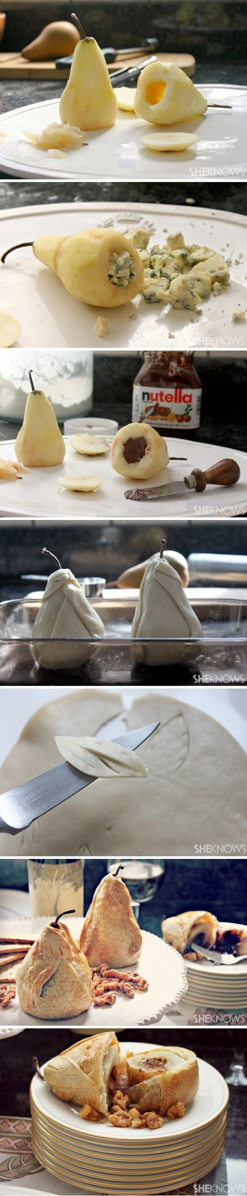 Stuffed and Baked Pear Pies Food Pix | Recipe by Picture
