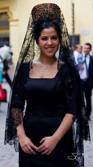 Woman with traditional mantilla of Holy Thursday #3 | Flickr - Photo Sharing!