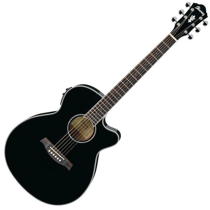 Ibanez AEG10II Electro Acoustic Guitar, Black at Gear4music.com