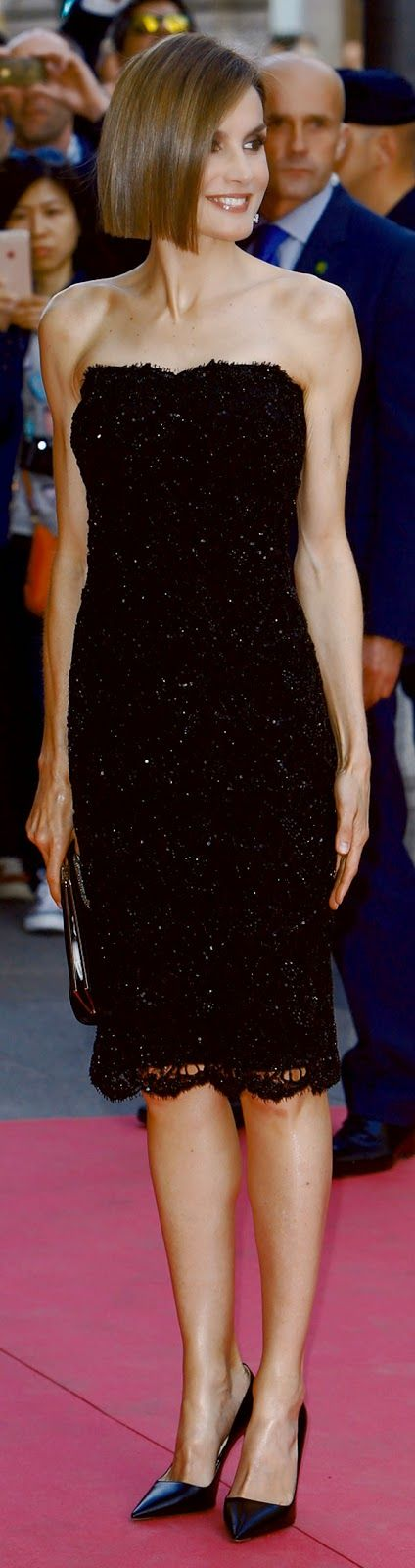 MyRoyals:  Queen Letizia debuted a new hairstyle as she attended the Women Magazine Awards ceremony, Casino of Madrid, Spain, April 20, 2015