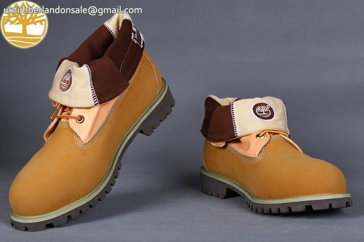 Custom Timberland Roll Top Soft-Toe Wheat Prints Men Boots $95.99