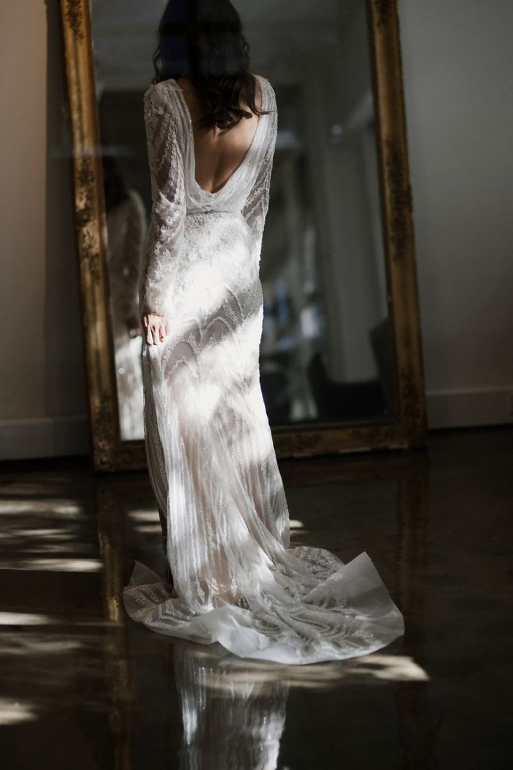 Pallas Collective / Image: Alli Oughtred / Iridescent Beaded Bridal Gown / Eleanor Pendleton / Gritty Pretty / Wedding Style Inspiration / The LANE