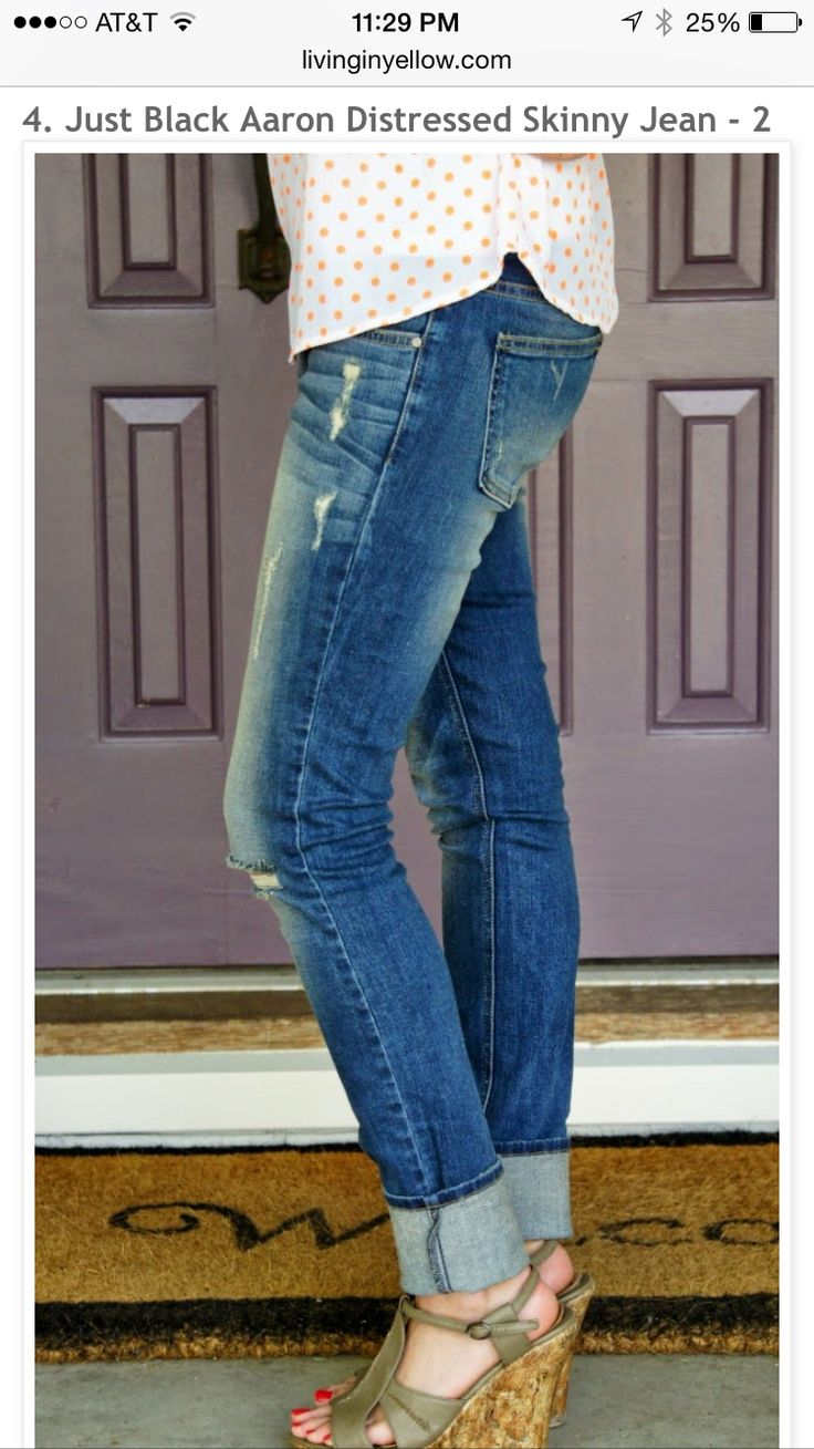Stitchfix stylist. I love the fit, color, cuff, and distressing in these jeans. I really want these ASAP. Please!