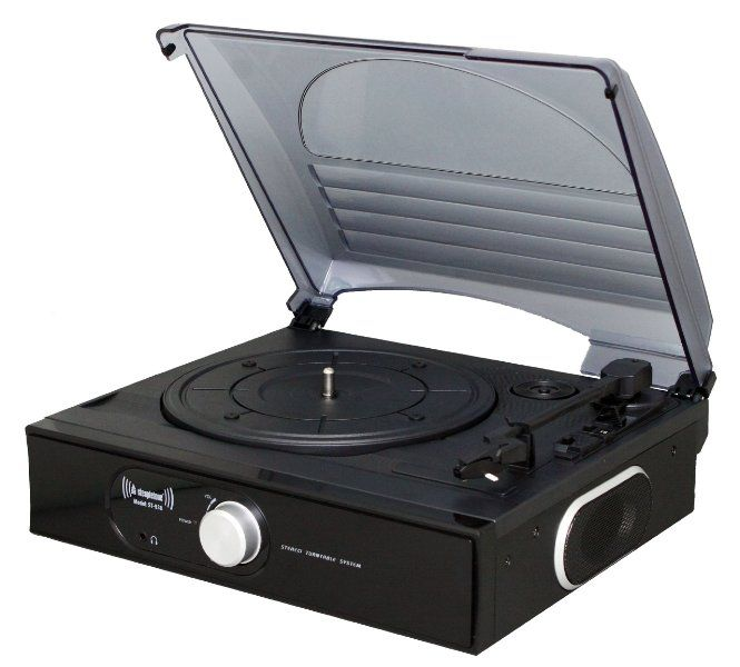 Steepletone ST938 3 Speed Stand Alone Record Player with Flip Over Stylus - Black:Amazon:TV & Home Cinema