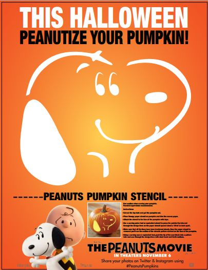The PEANUTS Movie Pumpkin Patch Locations and FREE Snoopy Pumpkin Stencil #PeanutsMovie 5