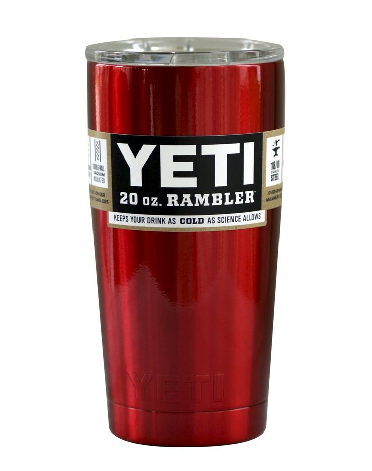 Chrome Red YETI 20 oz Rambler Tumbler Cup