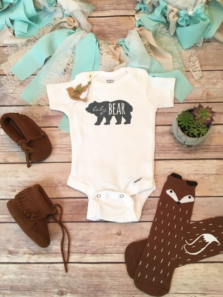 BABY BEAR esie Little Brother Shirt Hipster Baby