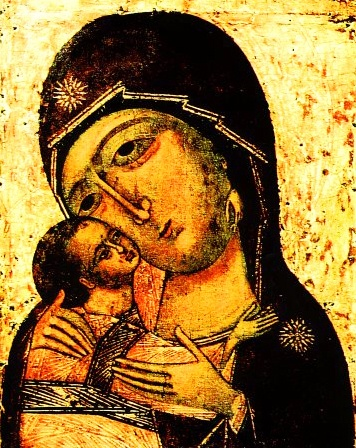 The Igorevsk Icon of the MostHoly Mother of God, of old Greek origin, before which Holy Passion-Bearer GreatPrince of Kiev Igor (12th cent Ukraine) prayed during the last moments of his life. At the time, the icon was situated in the Holy Dormition Cathedral of Kiev-Pechersk. It is celebrated June 5.