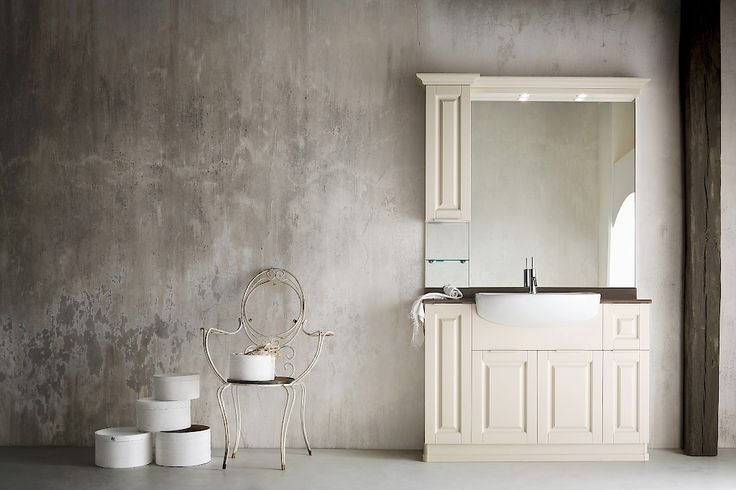 FINCH FH 04 | Compab. Structure 541 lacquered ash (X1 corda). Doors 541 lacquered ash (X1 corda). Semi-built-in washbasin in ceramic. Marble top i-pine bark.