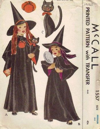 Early 1950s Halloween Witches Costume