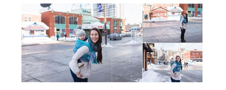 Albums created with your babywearing images in Ottawa.