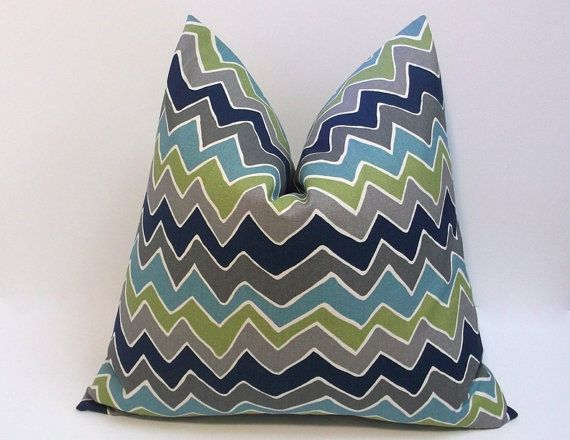 Navy And Teal Throw Pillows: Decorative Pillow Cover, Navy, Olive Green,teal And Grey