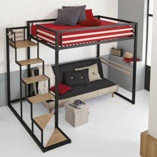 Mezzanine 140X200 - Home - Mezzanines et lits superposés-Les lits-Chambre-Par pièce - Décoration intérieur - Alinea