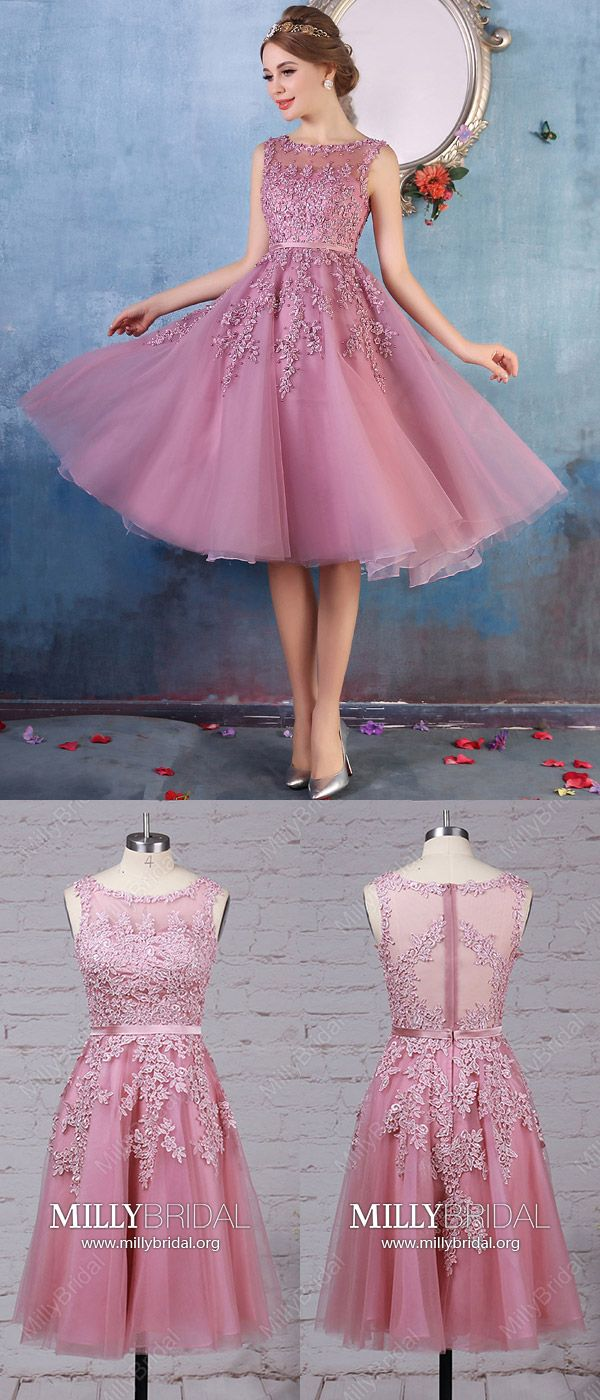 Short prom dressespink homecoming dresseslace graduation dresses