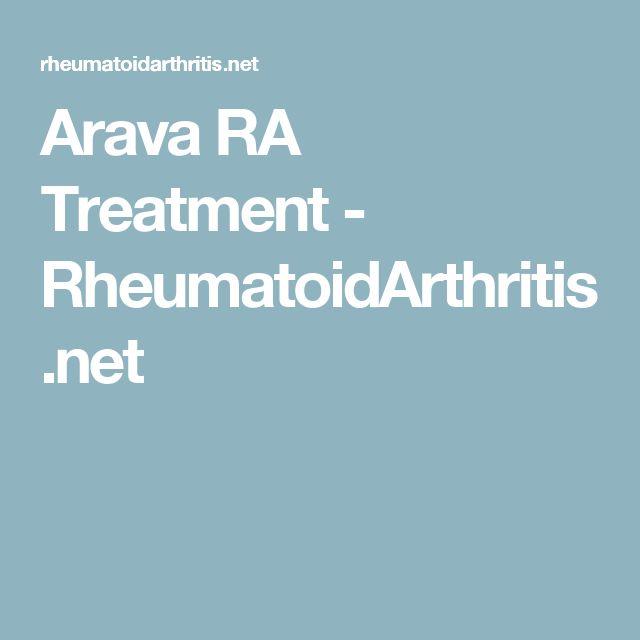 Arava RA Treatment - RheumatoidArthritis.net