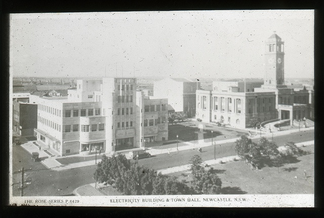 Nesca and City Hall - Cultural Collections, University of Newcastle, NSW, Australia