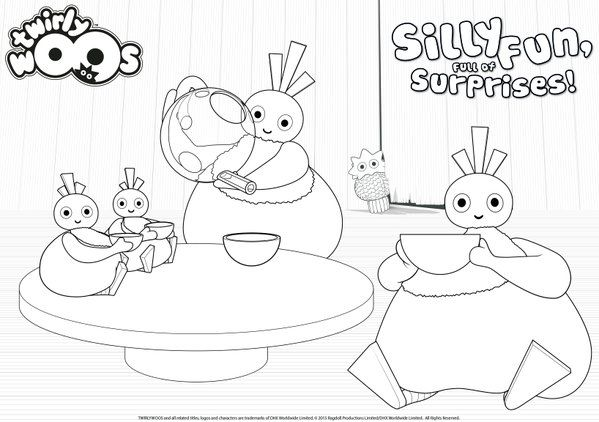 twirlywoos colouring - Google Search
