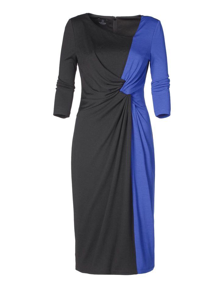 Kleid in Two-tone-Optik in der Farbe schwarz / royal - royalblau - schwarz, blau - im MADELEINE Mode Onlineshop