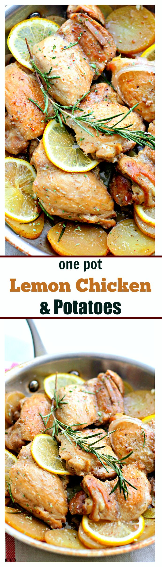 {Macedonia} One-Pot Lemon Chicken and Potatoes – This super easy, amazingly flavored dish with chicken and potatoes is a complete meal made all in one pot and in just 30-minutes!
