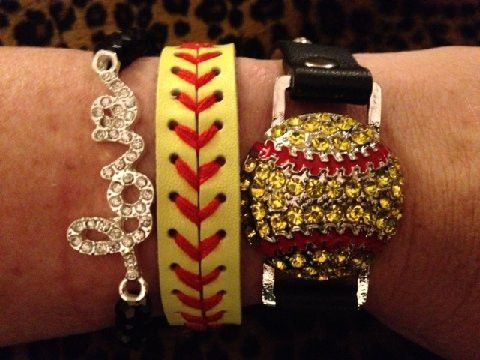"The black leather snap bracelet is adjustable to two sizes 7"" and 71/2"" The leather stitch bracelet is 8"" long-Adjustable to two sizes-7"" and 7 3/4"" The LOVE bracelet is one size with black beads."