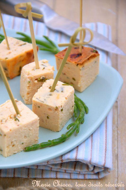 Terrine toute simple au saumon sauvage, huile d'olive et ciboulette