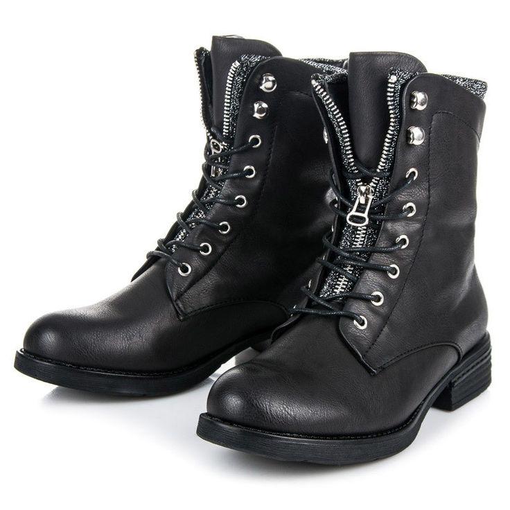 Čierne dámske workery SIDOL 226PA-B