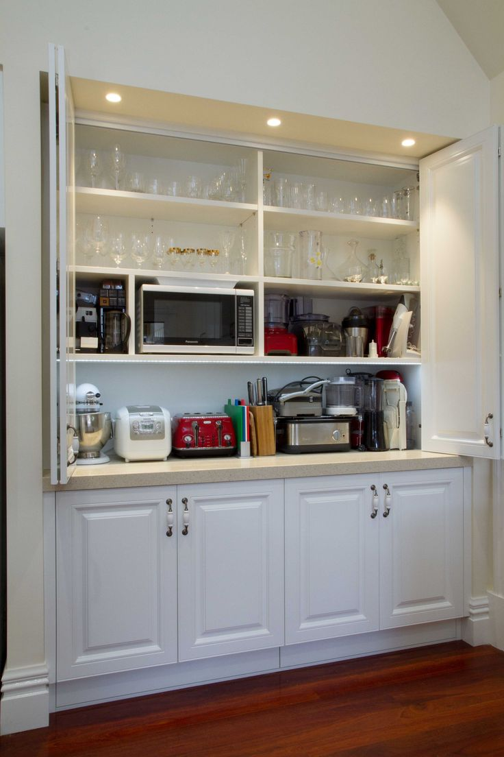 Traditional kitchen. Appliance pantry. www.thekitchendesigncentre.com.au