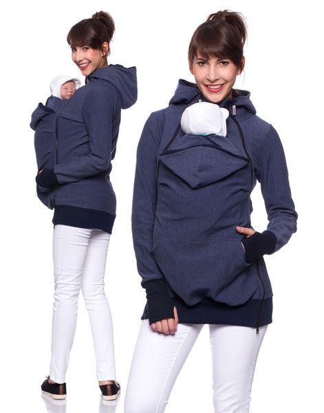Stillmode - FERIS ACTIVE SWAT Umstands-Still-Trage Jacke jeans - ein Designerstück von Milchshake-by-AgnesH- bei DaWanda