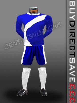 Attack Discount Football Kit Royal/White