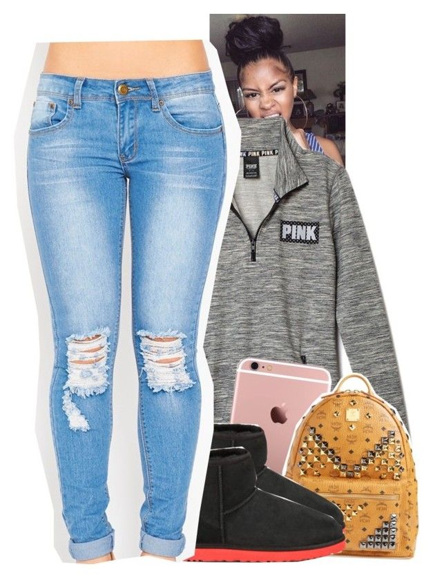 """""""Untitled #1223"""" by tonibalogni ❤ liked on Polyvore featuring MCM, UGG Australia, women's clothing, women, female, woman, misses and juniors"""