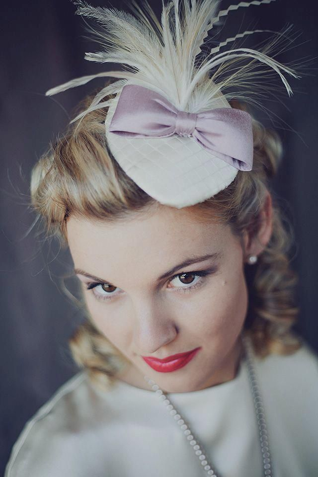 Vintage Bride ~ Chic Vintage Inspired Bridal Hats - Leila Koster Millinery ~ [vintagebridemag.com.au]