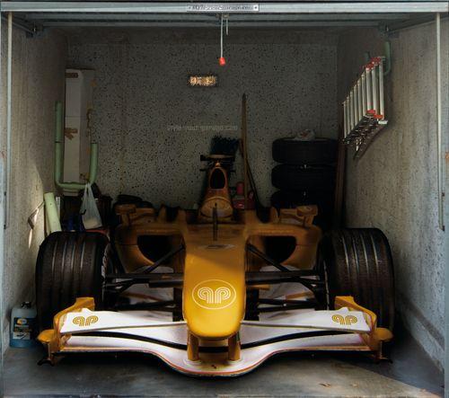 Fotoplane für Garagentor Rennwagen / Garage Mural Rennwagen