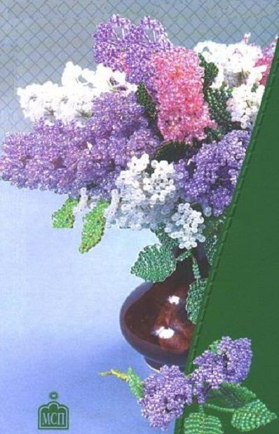 bouquet of lilac beads