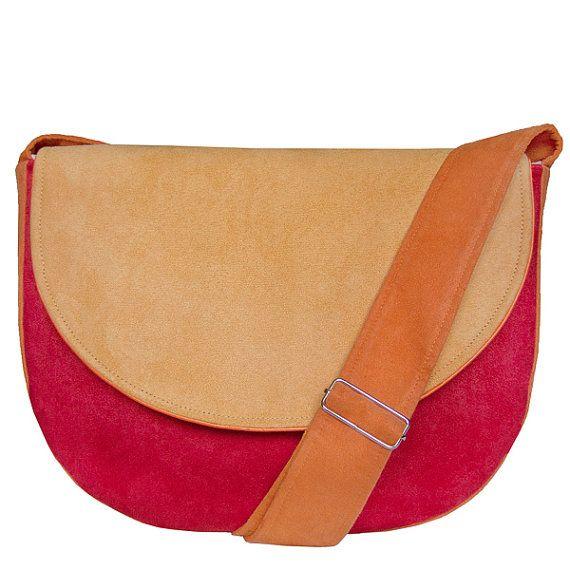 MIDI series  red / orange / yellow messenger bag midi by bandabag