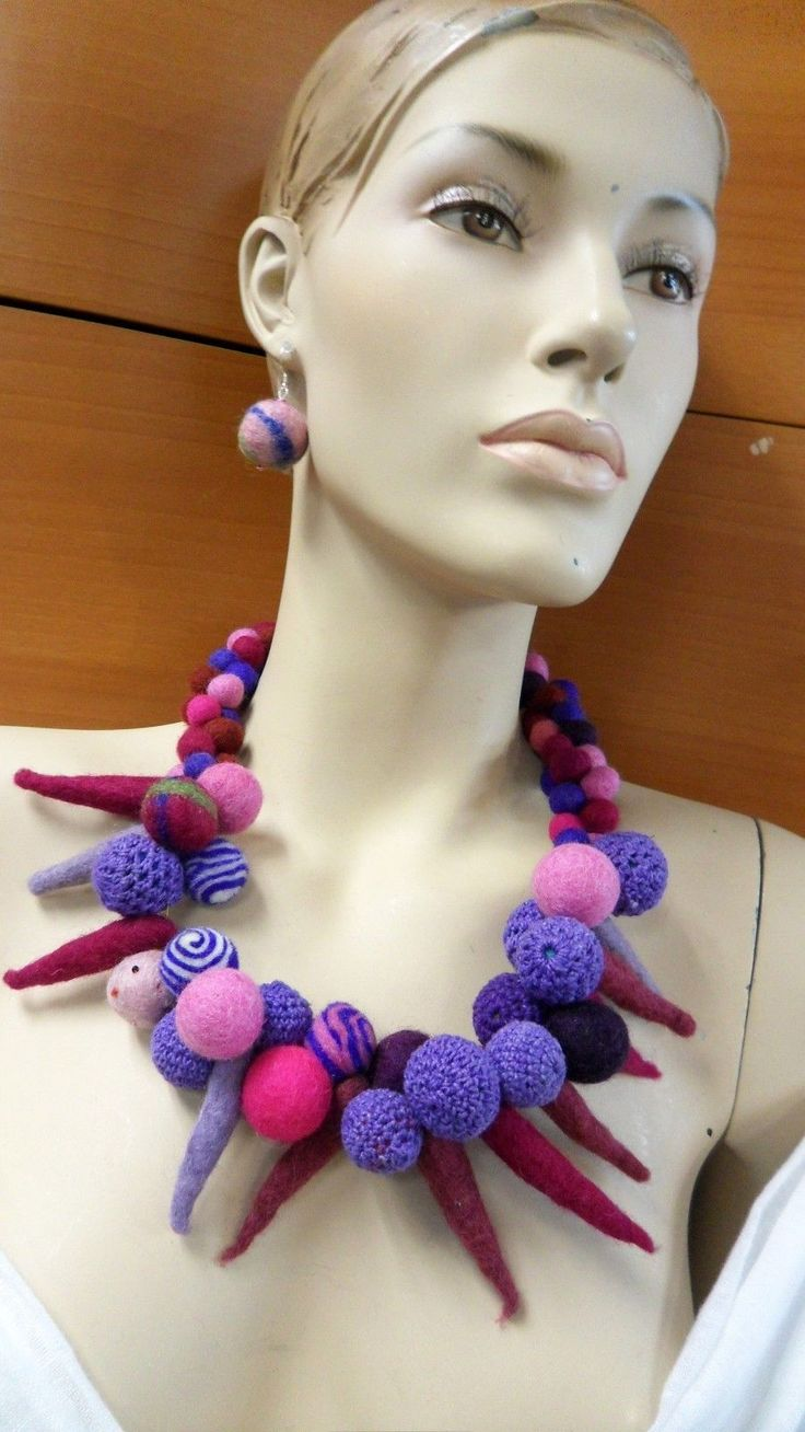 NECKLACE EARRINGS SET FELTED JEWELRY SET HANDMADE IN EUROPE HOLIDAY GIFT IDEA      Item specifics     Condition:        New with tags: A brand-new, unused, and unworn item (including handmade items) in the original packaging (such as    ...