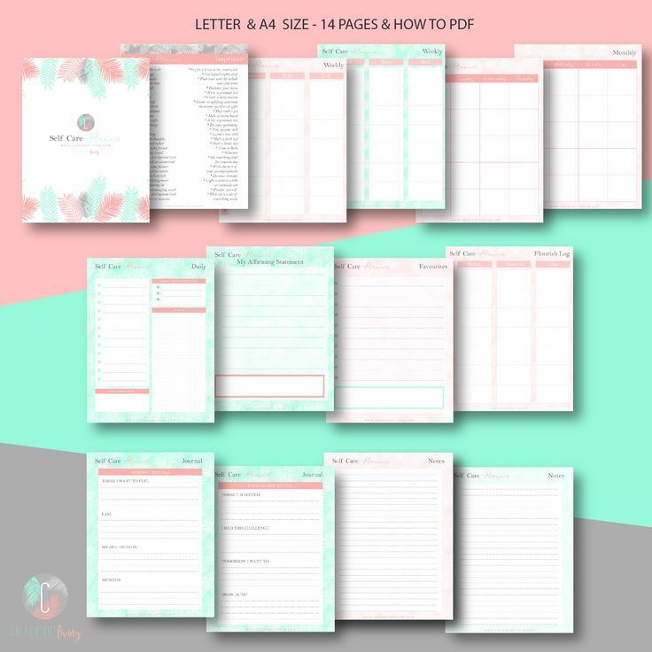 Self Care Planner Wiro A5 Physical Workbook Planners