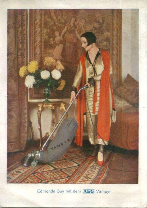 AEG Staubsauger Vampyr Reklame Werbung AK ca.1935