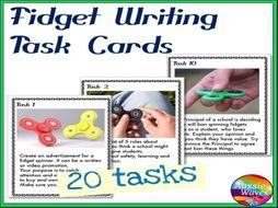 WRITING PROMPTS Task Cards FIDGET IMAGES to Stimulate ideas Writing Varied Genre - Teaching Resources - TES