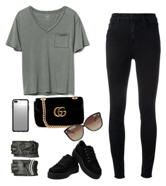 """FullOfFashion"" by andree4048 on Polyvore featuring Gap, J Brand, Gucci, Linda Farrow, Speck and Karl Lagerfeld"