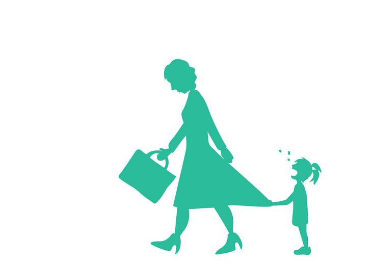 Altijd huilen als moeder haar wegbrengt, en mama ook meteen meteen weer claimen als ze thuis is. Waarom doet een dochter dat?